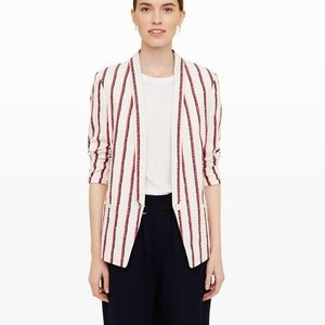 Club Monaco Joclynna red blue striped blazer 8